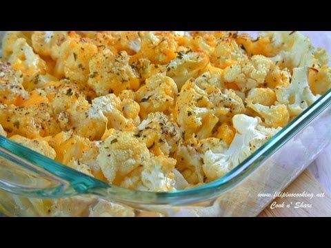 Garlic And Cheese Cauliflower