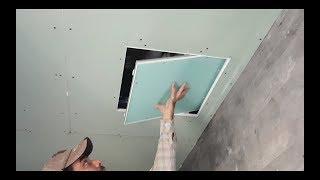 كيفية تثبيت الزخرفية صيانة وصول الفريق في سقف Ac
