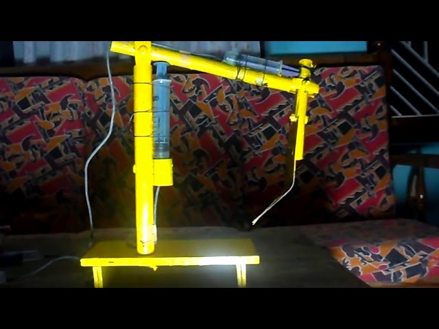 Working model for Science Exhibition -Hydraulic Arm Travel Video