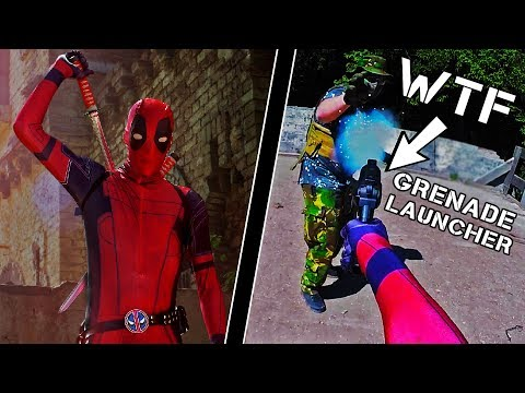 Scaring the $&*% out of Players in a DEADPOOL Costume!