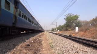 """namma"" KJM EMD led Falaknuma climbs and accelerates as ANGUL WAG-7 honk madly"