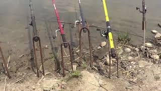 Рыбалка на сазана удочками (день1)  Неожиданный финал