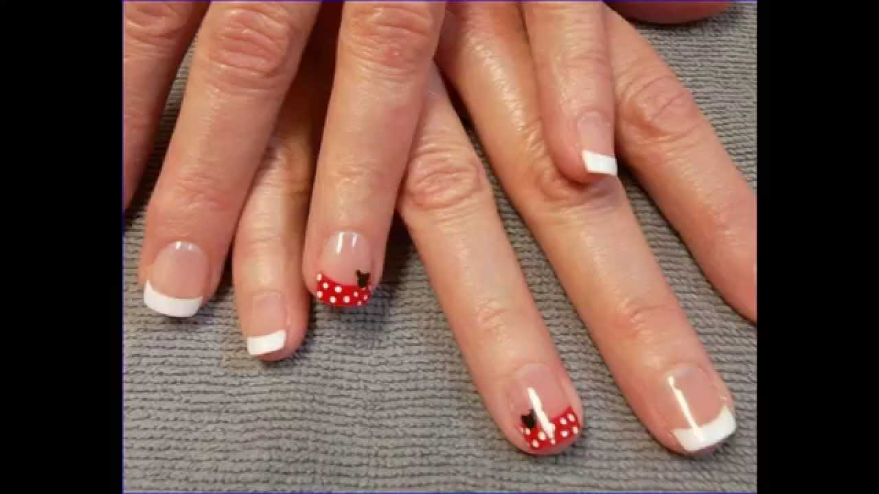 How To Gel Nails VS Acrylic Nails French - YouTube