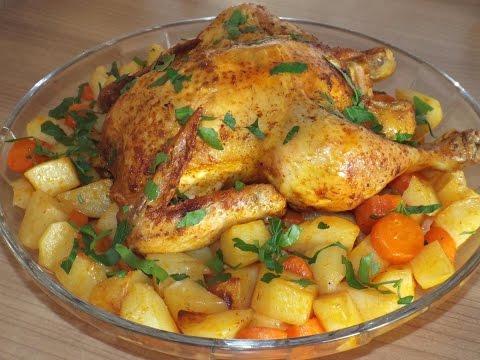Курица целиком в духовке рецепты приготовления