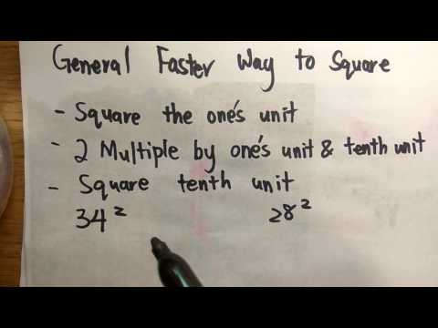 General way to do square of 2 digits number faster