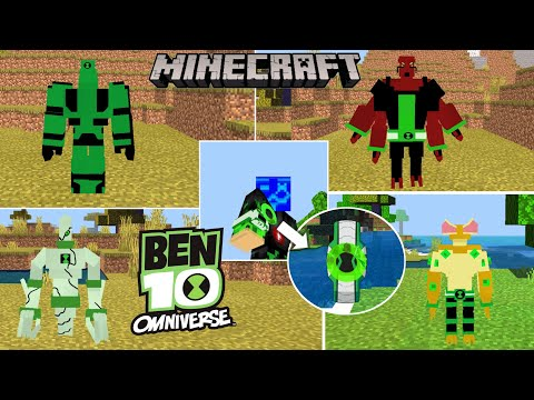Ben-10 Omniverse ADDON/MOD IN Minecraft PE/BEDROCK 1.16+ For Android/PC !DOWNLOAD ADDON HERE!