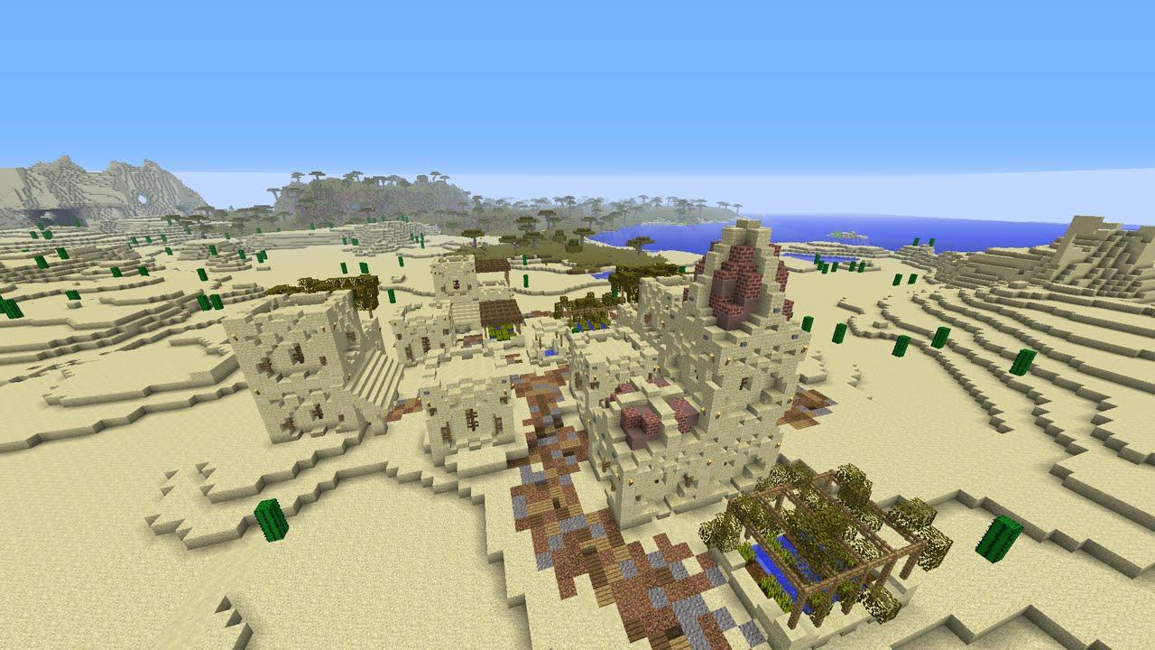 как построить деревню в пустыне в майнкрафте #6