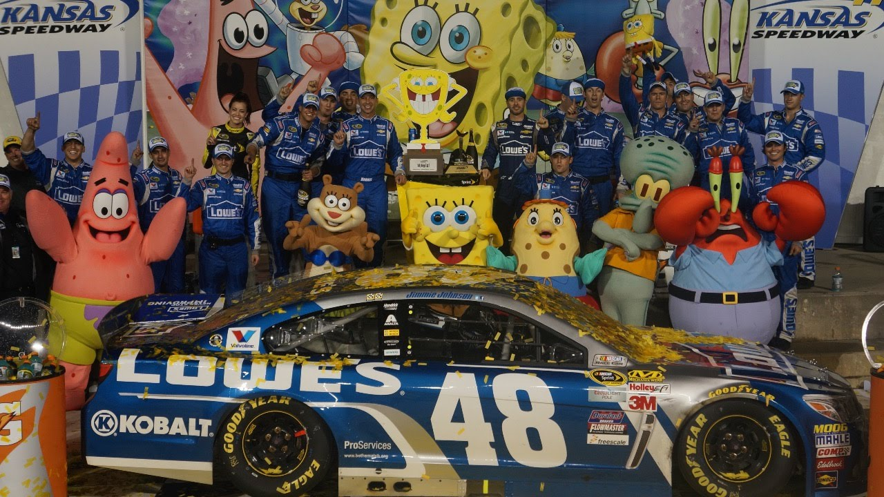 Jimmie Johnson Victory Lane - YouTube