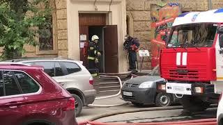 Фото Пожар в здании Российского государственного архива литературы и искусства 12.07.2019