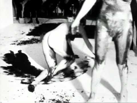 Yves Klein. Anthropométrie de lépoque bleue (1960) black & white