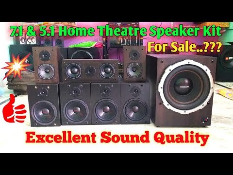 5.1 & 7.1 Speaker Set for Sale..? Home Audio System   Explained in Telugu