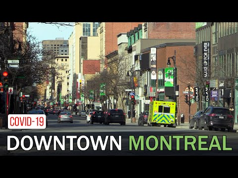 Montreal Downtown During Covid 19 Pandemic March 2020 – Sainte Catherine Street #downtownmontreal