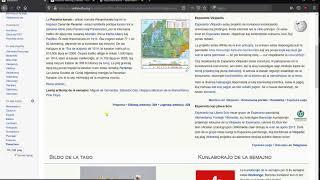 Kapablo legi artikolojn en nova tiparo. ( Wikipedia, Esperanto, Volapük, Kotava )