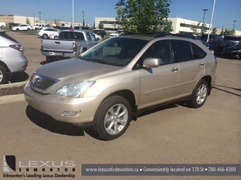Pre Owned Gold 2008 Lexus Rx 350 4wd 4dr Touring Package Of Edmonton