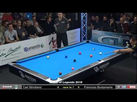 Earl Strickland vs Francisco Bustamante :: Batalla de Leyendas 2018 - German Pool Masters