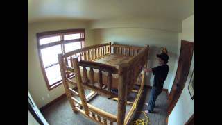 Log Bunk Bed Project
