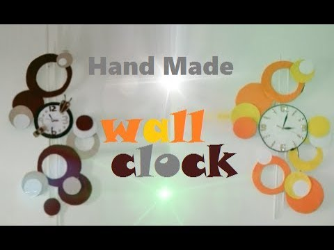 Modern Wall Clock Design |DIY Wall Clock Decor | Home Decorating ideas | DIY Wall Hanging