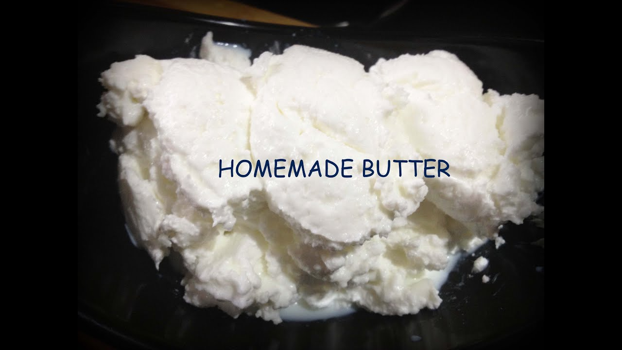 Homemade Butter in just 3 minutes-How to make butter at home - YouTube
