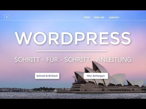 WordPress Website erstellen -2019- Tutorial in 20 EINFACHEN Schritten | (Deutsch|German)
