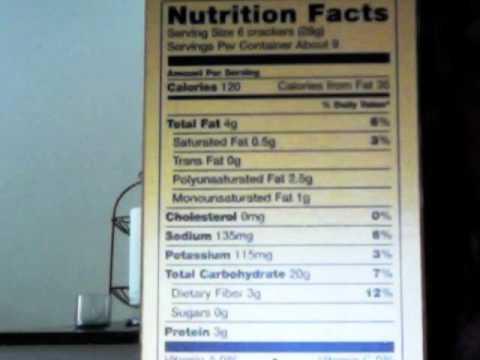 GSU Sports Nutrition: Reading a Food Label