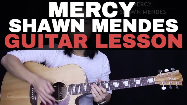 Mercy Guitar Tutorial Shawn Mendes Guitar Lesson |Easy Chords + ...