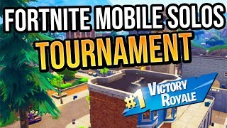 FORTNITE MOBILE SOLOS TOURNAMENT! WIN 1,500 VBUCKS// PRO PLAYERS