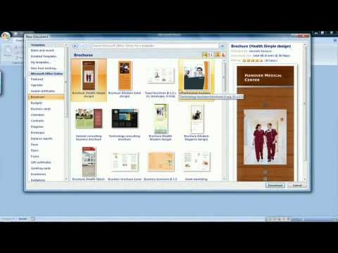 how to create a brochure in microsoft word 2007 youtube