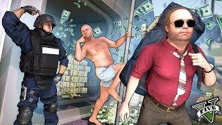 GTA V LIFE - ATRACADORES Y STREAPERS POLICÍA!! *muero de la risa* - GTA 5 Real Life