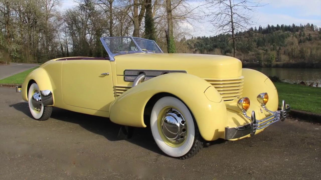 1937 cord 812 supercharged phaeton charvet classic cars for Cord motor car for sale