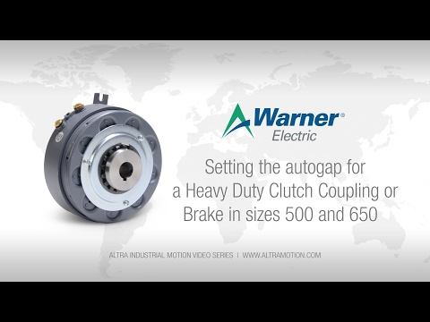 Warner Electric | Setting the Autogap for a Heavy Duty Clutch Coupling or Brake in sizes 500 and 650 thumbnail