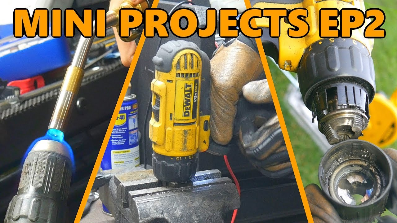 Dewalt Drill Chuck Removal and Replacement the Hard Way (Mini Projects Ep.2)