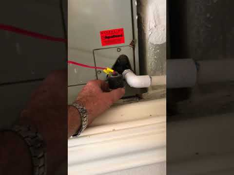 Resetting AC Drain Line Float Switch