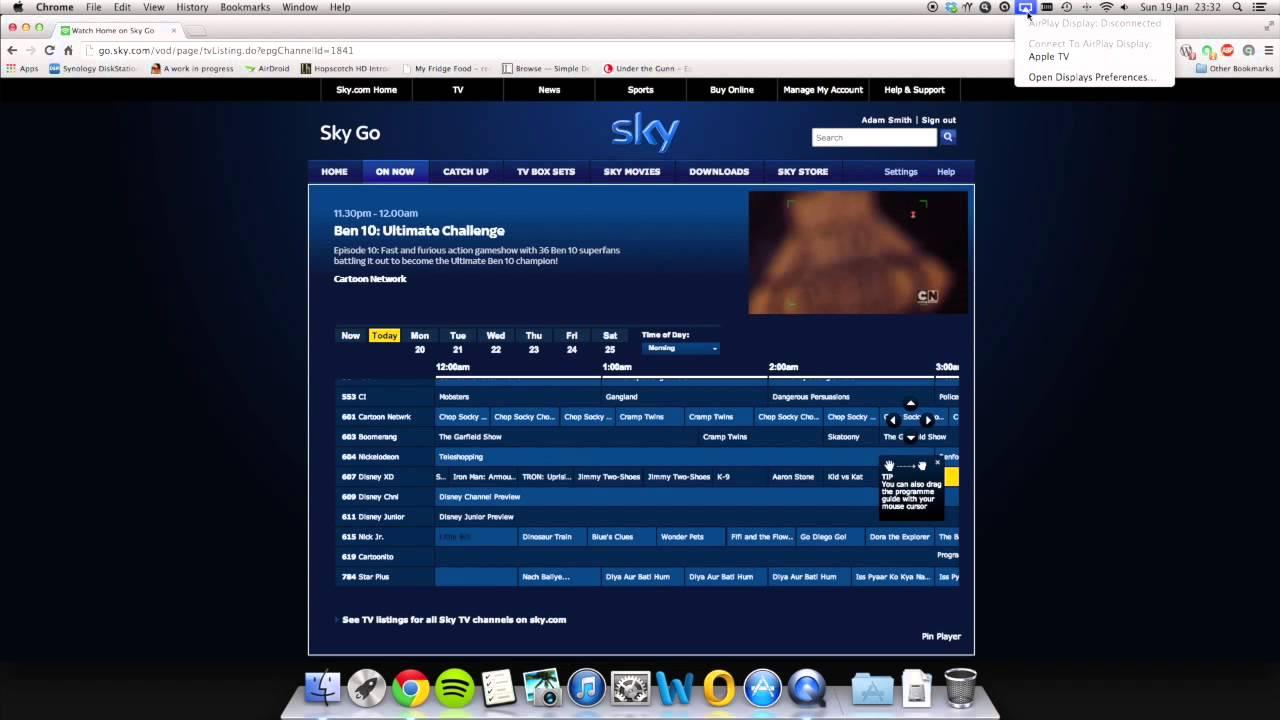 Airplay Demo to Apple TV (SkyGo)