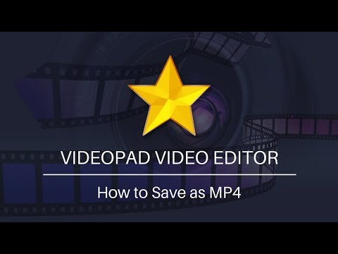 VideoPad Video Editing Tutorial | How To Save As MP4