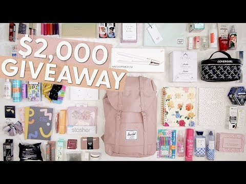 Back to School Giveaway 2019! $2,000 GIVEAWAY!