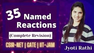 Name reactions in chemistry Name Reactions in Organic Chemistry for csirnet gate iit jam J Chemistry