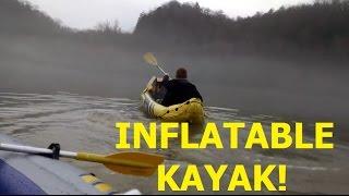 intex k2 kayak and a raft hit the trail