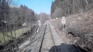 Zábřeh na Moravě - Jeseník/ POHLED NA TRAŤ Z ČELA SOUPRAVY/ HD KVALITA