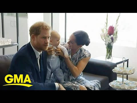 Baby Archie makes official debut on royal road trip in Africa l GMA