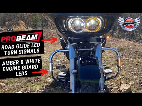 ProBEAM Road Glide Turn Signals & Dynamic Amber/White Engine Guard LEDs