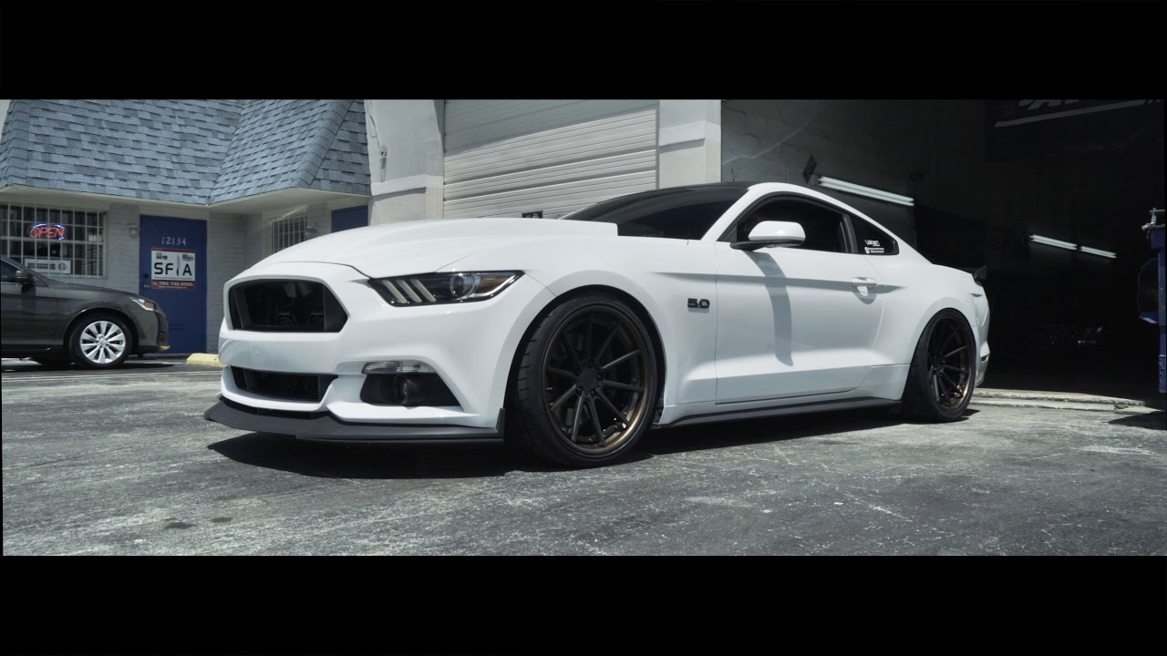 "Ford Mustang S550 Bagged | Velgen Forged VFMP | 20"" - YouTube"
