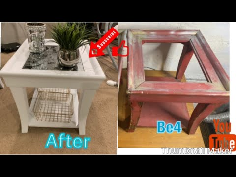 How To DIY END TABLE