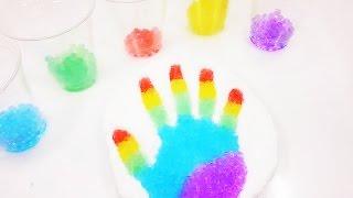 Отпечаток ладошки. Как сделать? Обучающие и развивающие мультики, обзоры детских игрушек