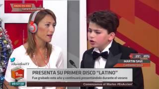 Martin Savi, el joven de 12 años que cantó en Roma a pedido del Papa