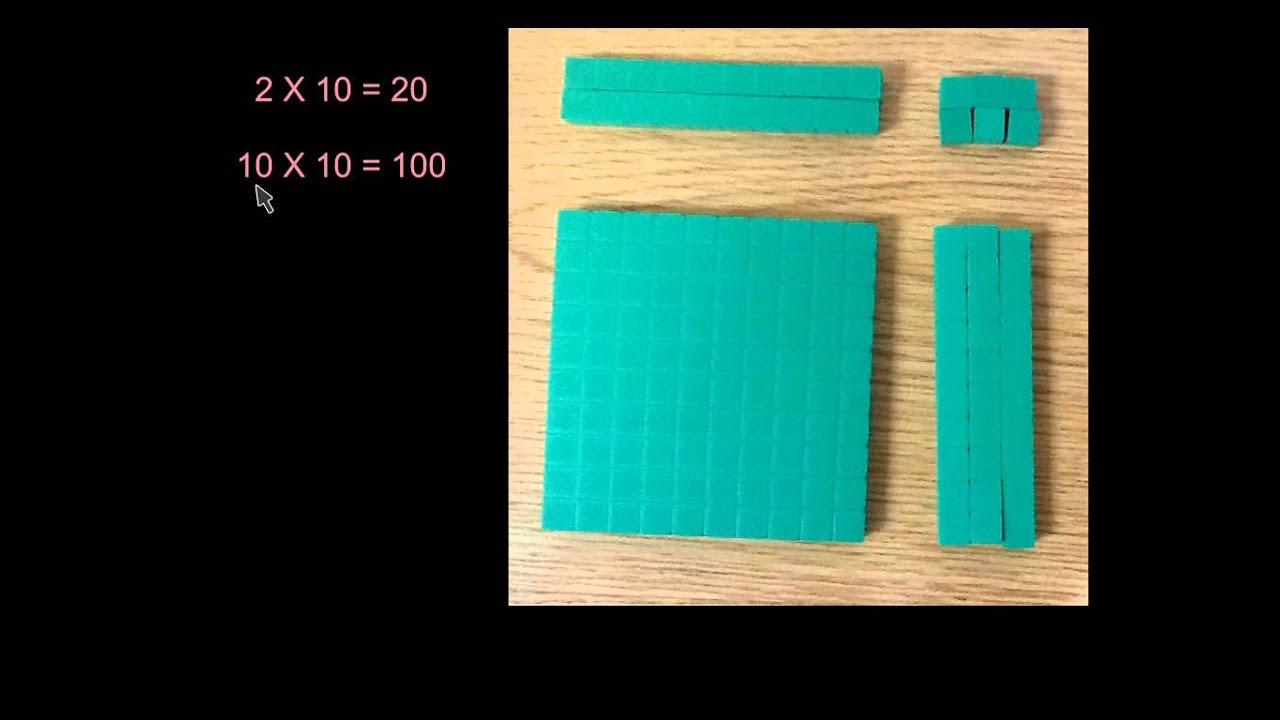 2 x 2 digit multiplication with arrays, Common Core, Part I - YouTube