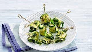 Lemon-basil Zucchini Rolls – Savory