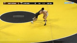 149 Pounds: Jimmy Hoffmann (Lehigh) vs. #10 Pat Lugo (Iowa) | Big Ten Wrestling
