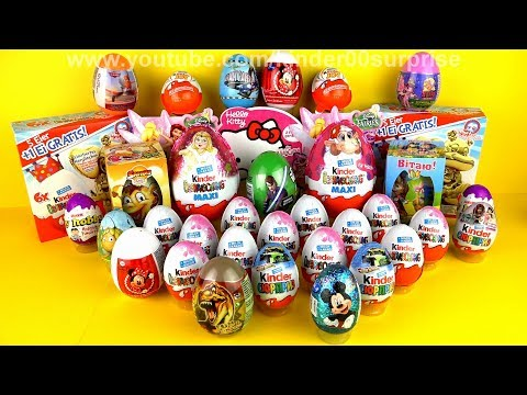 35 Surprise Eggs, Kinder Surprise Mickey Mouse, Cars 2 masha and the bear Disney Pixar