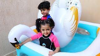 لمار وأنس جابوا المسبح من مصباح علاء الدين !!