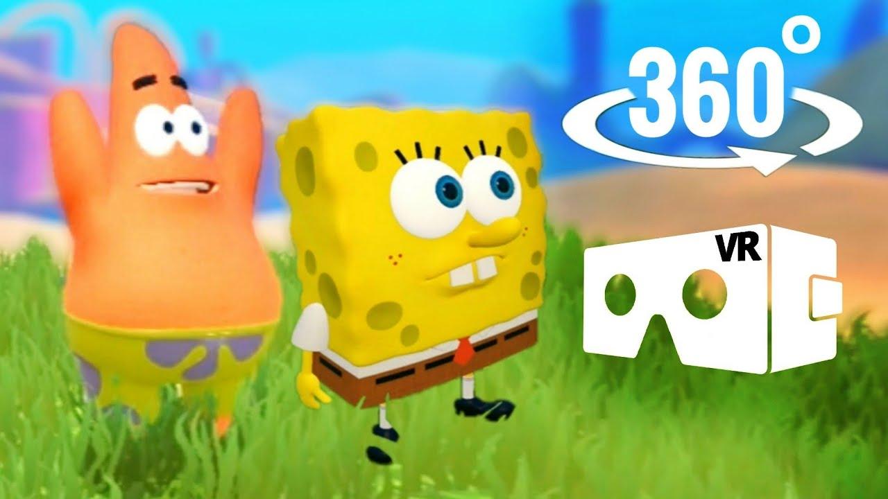 🦀 360 Video SpongeBob SquarePants VR Virtual Reality Battle Bikini Bottom Part 4 Mr Krabs